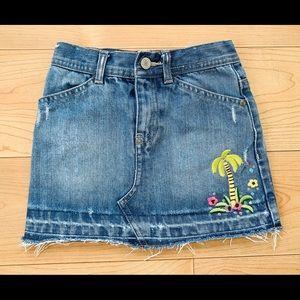 Baby Gap Distressed Denim Skirt